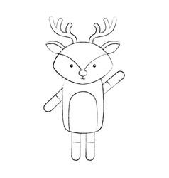 Animal reindeer cartoon vector