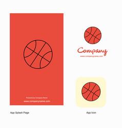 basket ball company logo app icon and splash page vector image