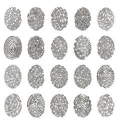 biometric fingerprints human grunge individual vector image