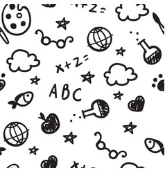 Black and white pattern of welcome back to school vector
