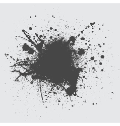 Black ink splash vector image