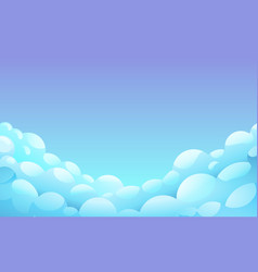 blue night sky with white fluffy clouds vector image