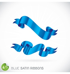 Blue Satin Ribbons vector image