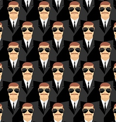 Bodyguard Seamless pattern of men in glasses vector