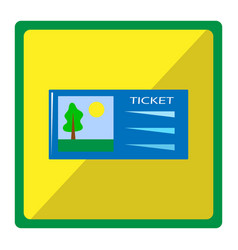 bright with cinema ticket vector image