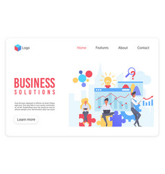 Business analytics flat landing page vector