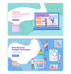 business software solution technique analysis vector image