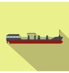 Cargo ship flat icon vector image