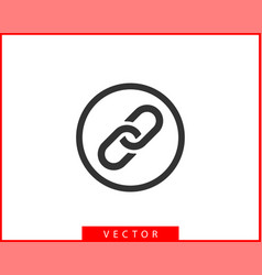 chain link icon chainlet element flat design vector image