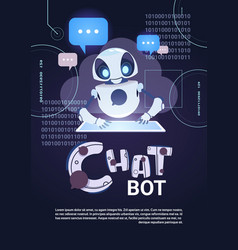 Chatbot robot technology chatterbot using digital vector