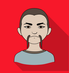 Chinesehuman race single icon in flat style vector