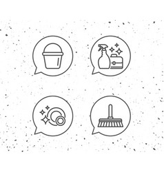 cleaning clean dishes and housekeeping vector image