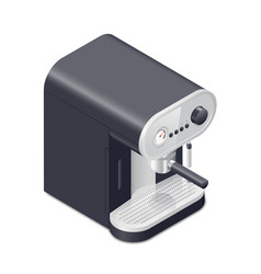 Coffee maker isometric icon vector