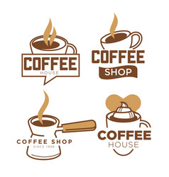 Coffeeshop coffee cup and cappuccino heart vector