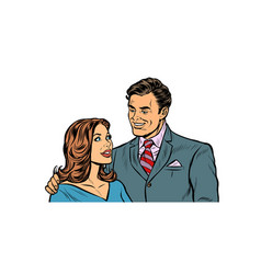 couple husband and wife vector image
