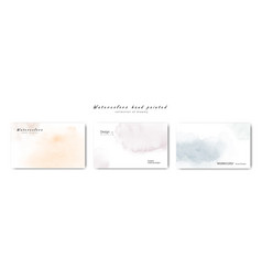 Creative minimalist watercolors hand-painted vector