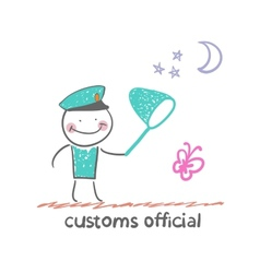 Customs officer vector