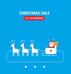 cute santa claus new year christmas holiday vector image