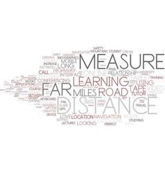 Distance word cloud concept vector