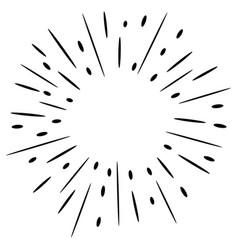 doodle design element starburst vector image