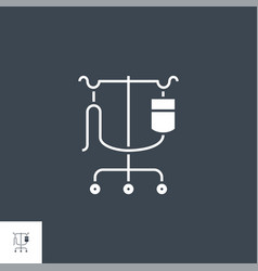 dropper stand related glyph icon vector image