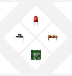 Flat icon electronics set of recipient bobbin vector