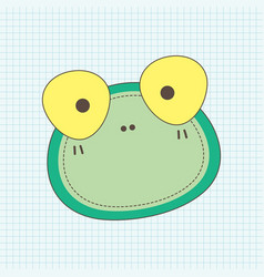 frog face notebook vector image