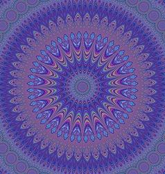 Geometric oriental fractal mandala design vector