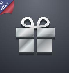 Gift box icon symbol 3D style Trendy modern design vector