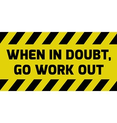 Go work out sign vector