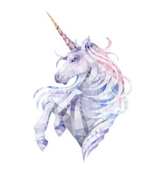 Graphic low poly unicorn vector