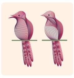 Hand drawn outline bird vector image