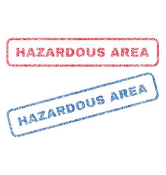 Hazardous area textile stamps vector