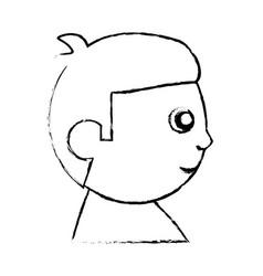 Head baby character image sketch vector