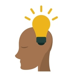 Head human new idea bulb vector