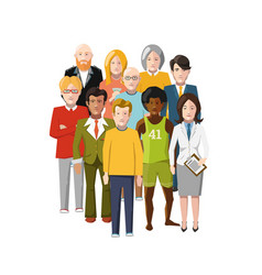international group of people from different vector image