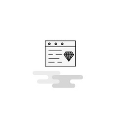 jewellery on website web icon flat line filled vector image