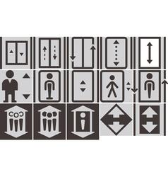Lift icons set vector