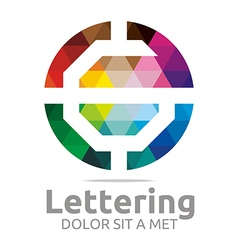 Logo Abstract Lettering G Rainbow Alphabet Icon vector image