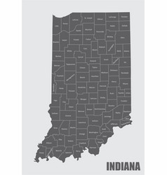 Map indiana vector