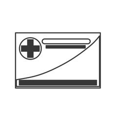 Medical insurance card icon vector