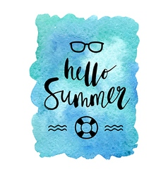Motivation poster hello summer abstract background vector