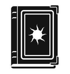 old fortune book icon simple style vector image