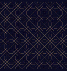 ornamental geometric seamless blue background vector image