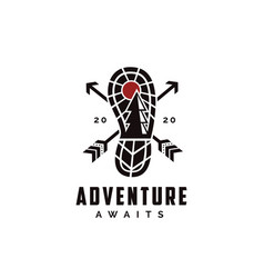 Outdoor adventure travel badge logo vector