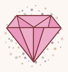 Pink diamond icon vector
