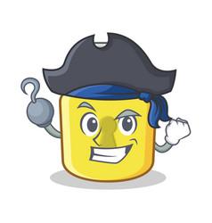 pirate yellow lock character mascot vector image