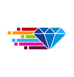 Pixel art diamond logo icon design vector