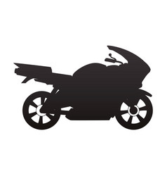 racing motorcycle silhouette vector image