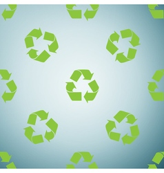 Recycle symbol icon pattern on grey background vector